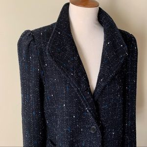 Vintage Long Black/Blue/White Coat